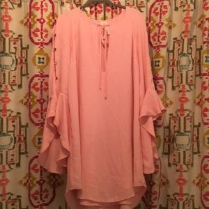 Free People Dresses - Free People Light Pink Dress with bell sleeves